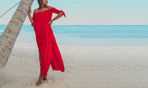 Robe plage maxi tahiti