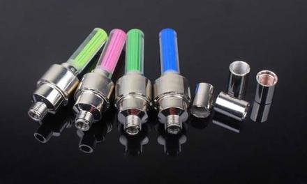 2 o 4 luci LED per bici, moto e auto disponibili in 4 colori