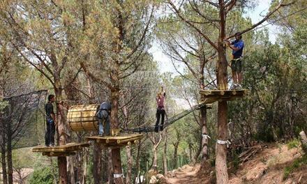 Circuitos de aventura en la naturaleza para adulto y/o niño desde 19,99 € enSant Feliu Parc Aventura