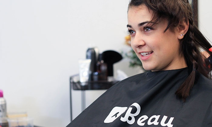 Beau: On-Demand Men's or Women's Haircut, or One or Two On-Demand Blowouts from Beau (Up to 44% Off)