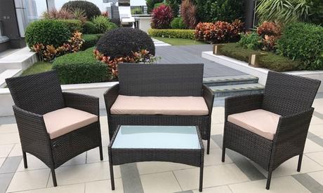 Set de muebles de ratán para el jardín de 4 piezas Davis and Grant