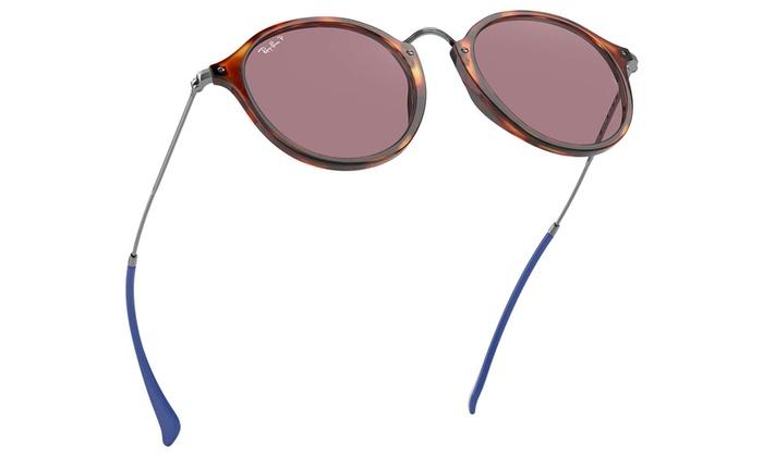 fadae34b0 Ray-Ban Round Fleck Pop Polarized Sunglasses | Groupon