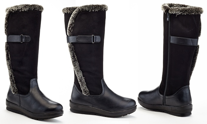 51f489af1ec Rasolli Lolittas Women s Knee-High Boots with Faux Fur Insulation