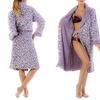 Amanda Paige Women's Jacquard Print Plush Robe (Size L)