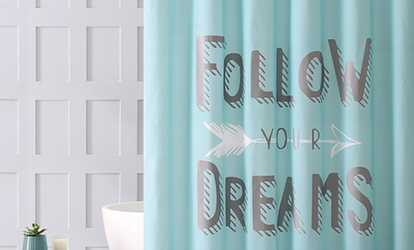 shop groupon fashion printed bathroom shower curtain - Bathroom Shower Curtains