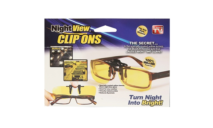As Seen On TV Night View Clip-Ons for Any Style of Glasses