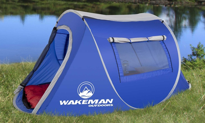 Wakeman Outdoors 2 Person Water Resistant Barrel Style Pop Up Tent