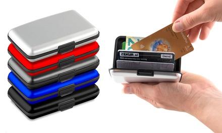 1, 2, 3 ou 4 porte-cartes en aluminium protection RFID