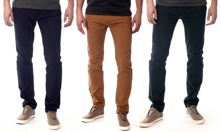 Men's Slim Fit Stretch Chino Pants
