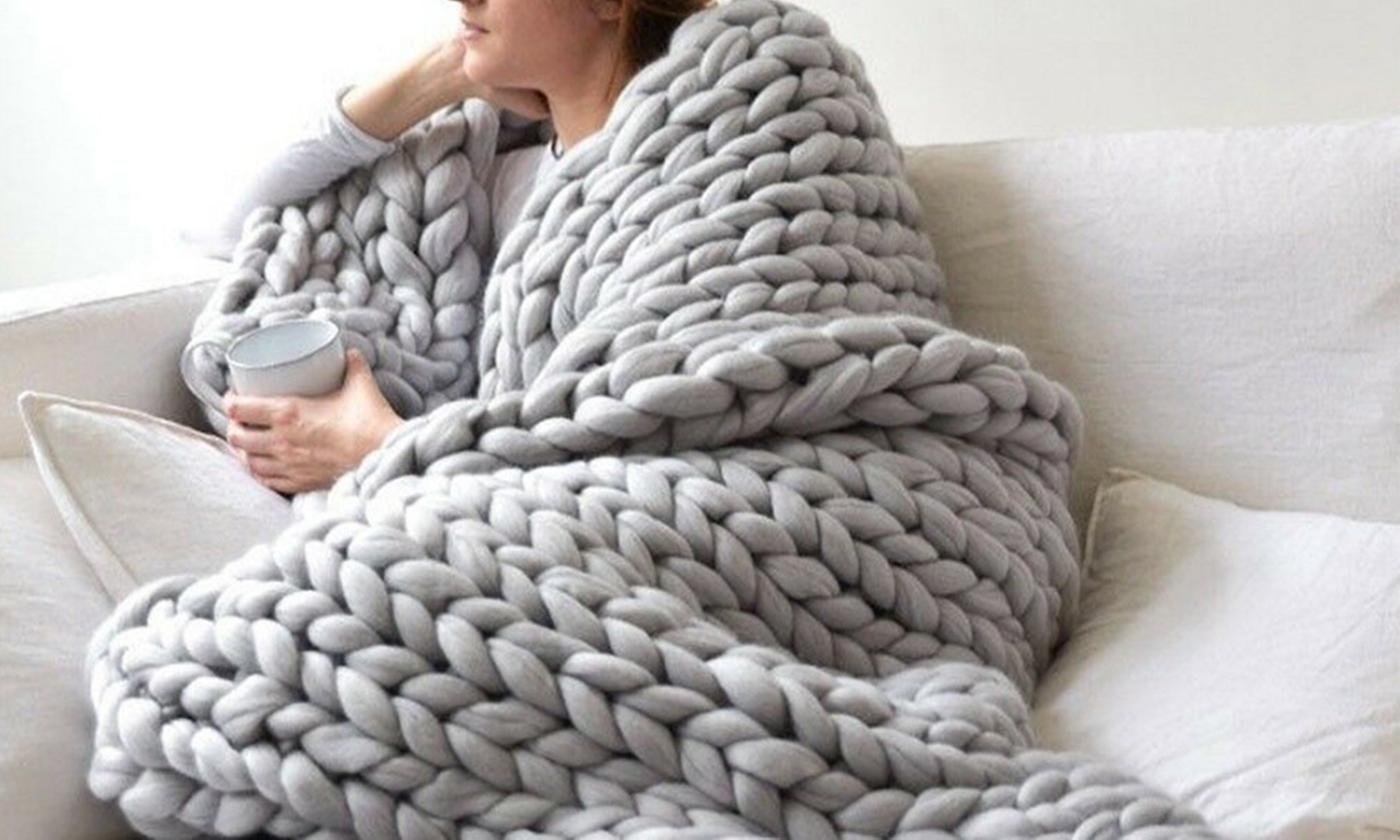 Chunky Knitted Warm Blanket from £26.99 (32% OFF)