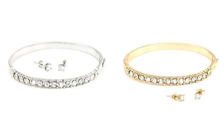 1 o 2 sets de pulsera y pendientes Moonbeam con cristales Swarovski®