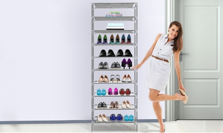 iMounTEK 10-Tier Shoe Rack Shelves with Detachable Racks