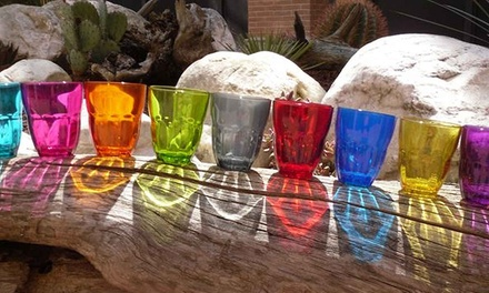 6 or 12 Bormioli Rocco Italian Glassware Coloured Drinking Tumbler Glasses