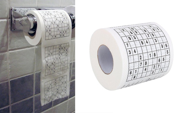 Sudoku Novelty Toilet Paper: Two ($12.95), Five ($19.95) or Ten Rolls ($29.95)