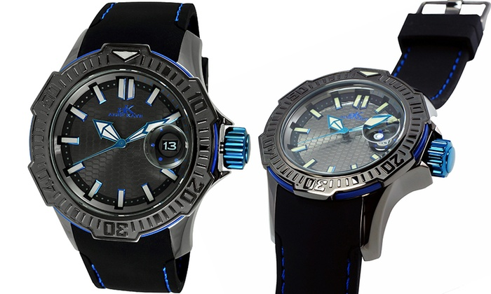 Men 39 s luminescent sports watch groupon goods for Luminescence watches