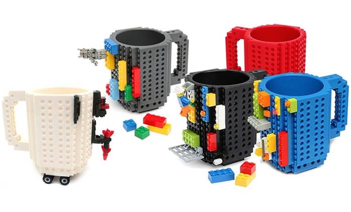 Witzige Tasse zum Bebauen mit Spielsteinen in der Farbe nach Wahl (bis zu 55% sparen*)