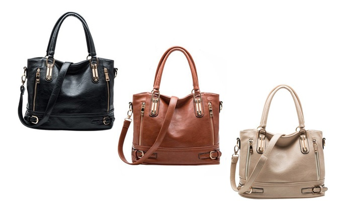 Groupon Goods: Faux-Leather Shoulder Bag (Shipping Included)