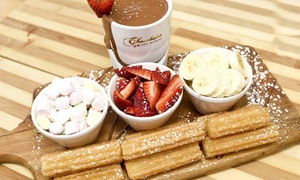 Chocolate Del Mondo Burwood: Chocolate Fondue with Drinks for 2 ($19.88) or 4 People ($39.90) at Chocolate Del Mondo Burwood (Up to $79.70 Value)