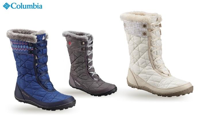 קולומביה - Merchandising (IL): מגפיים מבודדים לנשים Columbia Minx Mid Omni-Heat Print במגוון צבעים, החל מ-479 ₪ בלבד