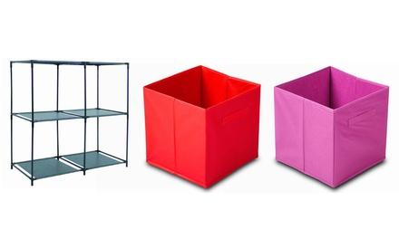 Estanterías modulares con cubos en diferentes medidas