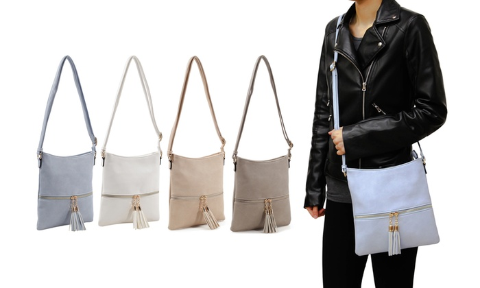 929122c737ec7c Up To 63% Off on MKII Kelsey Crossbody Purse   Groupon Goods