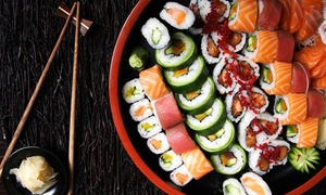 Cosy Sushi: Gevarieerde sushischotel om mee te nemen met soep om mee te nemen bij Cosy Sushi