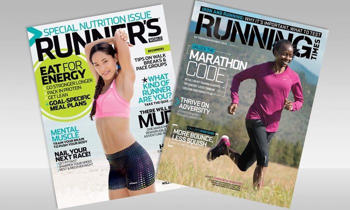 Running Magazines: One- or Two-Year Subscription to Runner's World or Running Times from Rodale. Free Shipping.