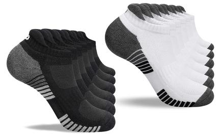 1 ou 2 lots de 6 paires de chaussettes de sport unisexe