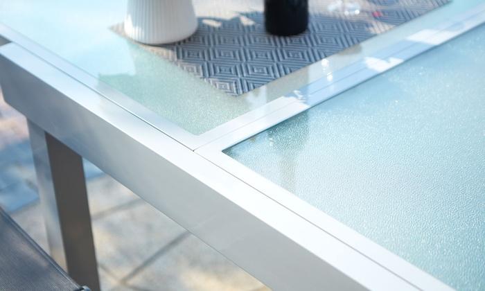 Salon de jardin Lycine alu/verre | Groupon
