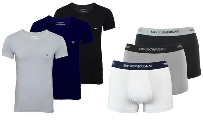 Pack de 3 boxers ou pack de 2 t-shirts Emporio Armani   Groupon 3cfbe2d107d