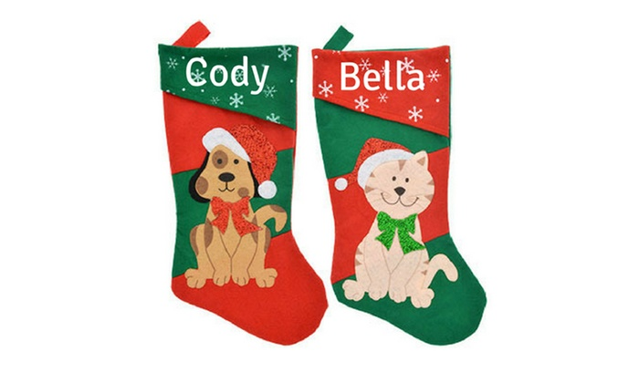 personalized christmas stockings cay boutique groupon