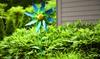 Handcrafted Metal Wildflower Wind Spinner: Handcrafted Metal Wildflower Wind Spinner