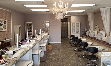 Gel Manicure with Wine or Mani-Pedi with Wine at Xclusive Nail Bar (Up to 36% Off).