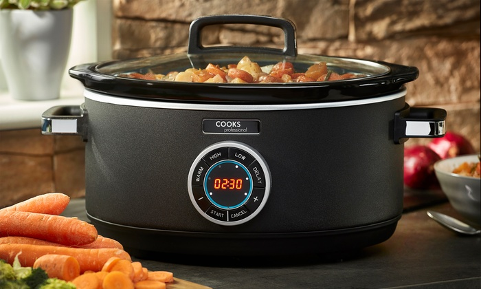Cooks Professional 3.5 Litre Digital Slow Cooker & Glass Lid 300W ...