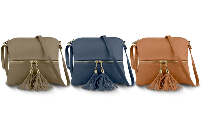 65b5f97128b25c Up To 70% Off on Women's Leather Crossbody Purse | Groupon Goods