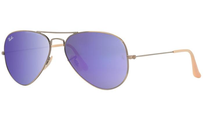 c58936f9d24 Ray Ban RB3025 167 1M 58mm Bronze Copper Violet Flash Mirror Aviator  Sunglasses