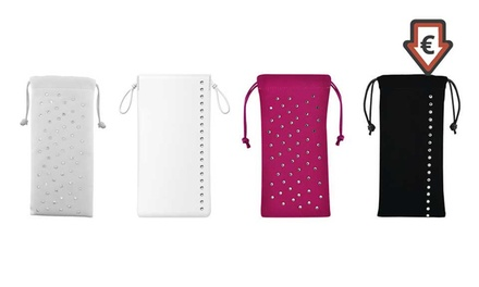 1 of 2 smartphone hoesjes versierd met Swarovski kristallen, model, kleur en maat naar keuze