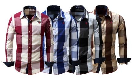 Chemise homme à carreaux Marshall 100% coton
