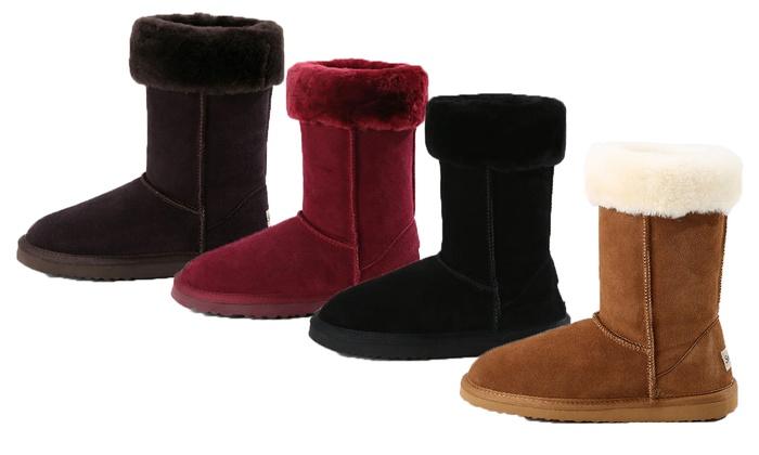 5771668af6556 jusqu à 73% Boots fourrées Snow Paw en cuir   Groupon