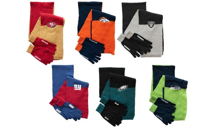 NFL Scarf Gloves Gift Set