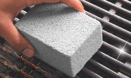 1 o 2 rocas volcánicas abrasivas para barbacoa y cocina