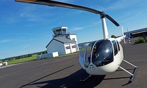 Level One Foto / Heliflug: 40 od. 50 Minuten Helikopter-Rundflug über Frankfurt für 1 oder 2 Personen mit Level One Foto Heliflug (bis 30% sparen*)