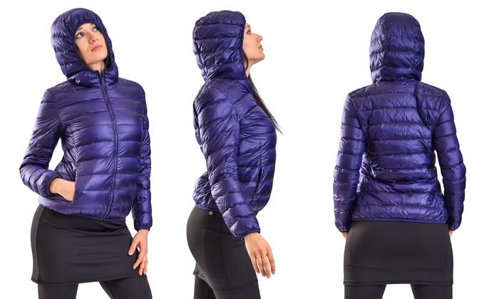 21155067 Up To 69% Off on Clanec Women's Down Blend Jacket | Groupon Goods