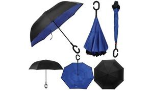 SwissTek Double-Layer Reverse-Folding Umbrella with UV Protection