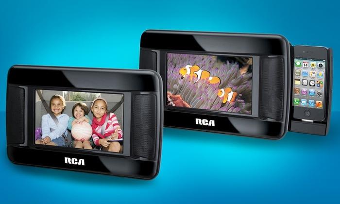 RCA Twin-Screen Mobile DVD System: RCA Twin-Screen Mobile DVD System. Free Returns.