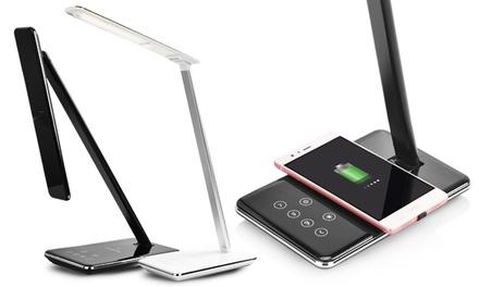 1 o 2 lámparas de mesa LED y cargador QI