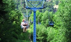 Stacja narciarska MyśleniceSki: Przejazd kolejką linową (od 19,99 zł) lub całodzienny karnet na downhill rowerowy (39 zł) w stacji MyśleniceSki