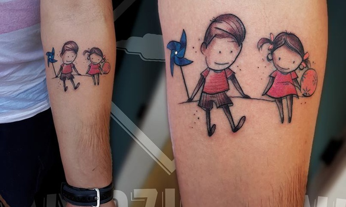 Tatuaż Cieniowany I Kolorowy Wydziarani Groupon