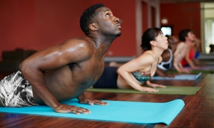 Hot Salutations: 5 or 10 Hot-Yoga Classes or One Month of Unlimited Hot-Yoga Classes at Hot Salutations (Up to 66% Off)