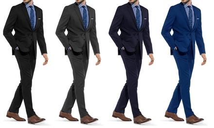 Braveman Men's Slim Fit Suits (2-Piece). Multiple Styles Available